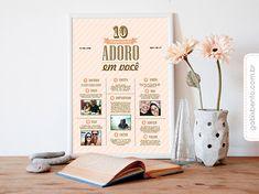 Presente de Melhor amiga - Poster 10 coisas que adoro em você personalizado com textos e fotos. Entregas para todo o Brasil.