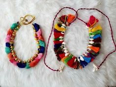 Ideas Diy Jewelry Making Earrings Design For 2019 Silk Thread Necklace, Thread Bangles, Thread Jewellery, Tassel Jewelry, Textile Jewelry, Fabric Jewelry, Saree Jewellery, Fabric Earrings, Diy Tassel
