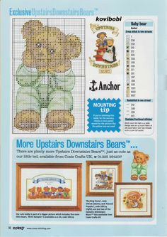Upstairs Downstairs Bears Counted Cross Stitch Kit Chart Pack