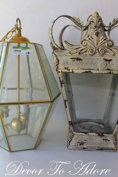 From Candle holder to Chandelier. DIY
