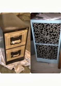 Wishes do come true...: Filing Cabinet Makeover