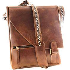 leather messenger bag vertical - Google Search