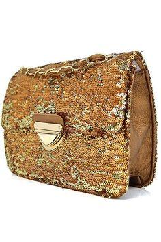 Gold Sequin Mini Handbag