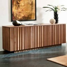 Pacini e Cappellini solid wood sideboard is a piece of modern Italian furniture that has a crenelated surface finish that's both original and striking. Contemporary Living Room Furniture, Small Furniture, Italian Furniture, Home Furniture, Furniture Design, Contemporary Sideboards, Solid Wood Sideboard, Sideboard Furniture, Buffet Console