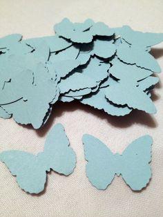 54 Light Blue Butterfly Die Cuts by MonAmiePaperie on Etsy, $2.44