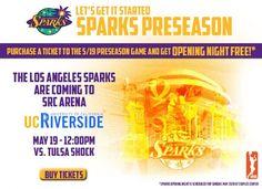 Los Angeles Sparks & Tulsa Shock WNBA Preseason Game Riverside, CA #Kids #Events