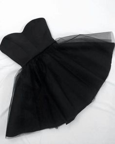 Simple Homecoming Dress, Black  Homecoming Dress,Tulle Short Party Dress,Girls Graduation Dresses from Upromdress