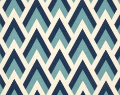 Blue geometric Fabric Zapp felix natural Premier Prints upholstery Home Decor 1/2 yard or more SHIPSFAST