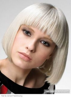 This edgy blunt Bob hair style will provide your features with a well-defined frame. The sharp angles will give your do an alternative groove perfect to make an impression.