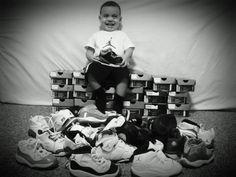 He's already a sneakerhead