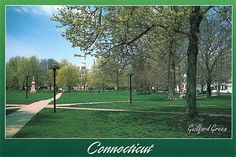 guilford, ct | Guilford Green, Guilford, Connecticut Postcard