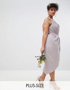 4d6d9c9666d1 TFNC Plus Wrap Embellished Midi Bridesmaid Dress. BrudtärnorAsos. online  shopping ...