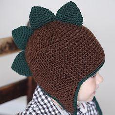 Free Crochet Earflap Hat Patterns   Spiky Dino Earflap Hat Crochet Pattern (Permission to sell all ...