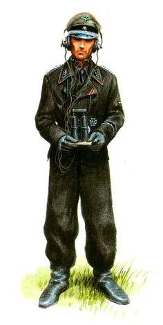 """SS-Untersturmführer, 1. Panzer-Regiment, 1. Waffen SS Panzergranadier Division """"LeibStandArte Adolf Hitler"""". Fronte Est 1943. Jaroslaw Wróbel"""
