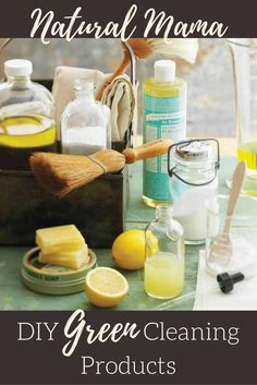 DIY Green Household Cleaners can be made from natural products found around the home. Extremely effective without the overpowering toxic fumes.