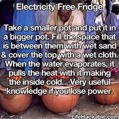 Image result for Life Hackable.com. Electricity Free Fridge
