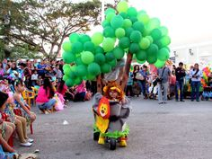 Colorido desfile