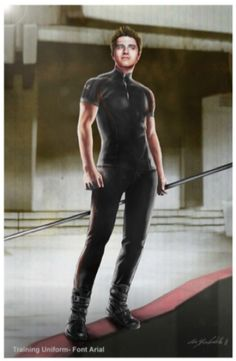 "Concept art for Peeta Mellark in training gear from ""The Hunger Games"" (2012) by Christian Cordella."