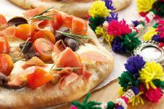 Pizza de bocconcinos, cherrys y jamón crudo - revistamaru.com