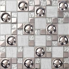 TST Crystal Glass Tile Pink Silver Porcelain Mosaic Kitchen Backsplash Design.  http://www.tstmosaictiles.com/index.php?route=product/product&product_id=167&search=TSTGT109