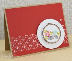 Bird Thank You Card by Nichole Heady for Papertrey Ink (November 2013)