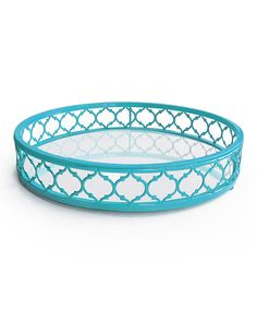 Look at this Light Blue Round Mirror Tray on #zulily today!