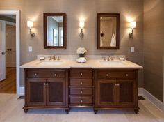 British Colonial Master Suite - traditional -wide baseboard bathroom - charlotte…
