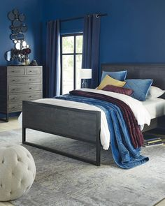 Are you feeling the Fall or still holding on to Summer? [Featured: Colton collection - bed 7 drawer dresser and nightstand Vogue Velvet Bedspread) . Silver Bedding, Velvet Bedspread, Hotel Collection Bedding, King Bed Frame, Urban Barn, Carpet Styles, New Beds, Upholstered Beds, Bed Storage