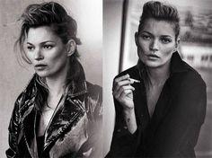 """Kate Moss se suma a la onda """"normcore"""", tan en reseñada el año pasado, posando para el edición de enero de la revista Vogue Italia, las fotos sin retoque digital ya se han convertido en punta de lanza de la tendencia que busca retratar la moda sin excesos de artificios y evidentes transformaciones digitales."""