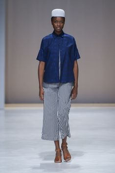 Amanda Laird Cherry   Spring Summer 2018    Look 2   Photo by Eunice Driver for South African Fashion Week South African Fashion, African Fashion Designers, Spring Summer 2018, Amanda, Zen, Cherry, Pants, Trouser Pants, Women's Pants