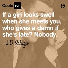 Catcher in the Rye love Girl Quotes, Me Quotes, Qoutes, Drop Everything And Read, Jd Salinger, Great Quotes, Inspirational Quotes, Words Worth, Word Up