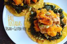 Fall Butternut Squash Braised Kale Tostada Vegan + Gluten-Free - Vegetarian Snob #vegan #glutenfree