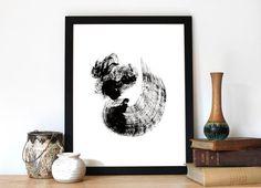 Zwart Wit Print Abstract   ► Abstract   Postersinhuis.nl