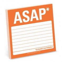 Remind yourself of those chores you need to to Asap with this fun and functional sticky pad