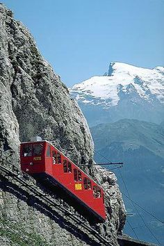 Pilatus Bahn, Luzern, Switzerland was on this train! Places To Travel, Places To See, Travel Destinations, Wonderful Places, Beautiful Places, Glacier Express, Travel Around The World, Around The Worlds, Voyage Europe