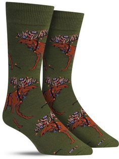 These adorable Christmas socks. | 21 Adorable Moose Products For Anyone Who Just Loves Moose