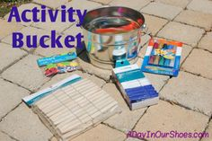 A DIY activity bucket for kids with autism or special needs.