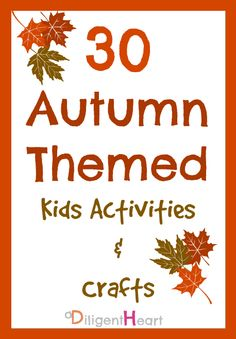 30 Autumn Themed Kids Activities & Crafts for preschoolers Thanksgiving Activities For Kids, Holiday Crafts For Kids, Craft Activities For Kids, Thanksgiving Crafts, Fall Crafts, Thanksgiving Dinners, Preschool Games, Sensory Activities, Preschool Crafts