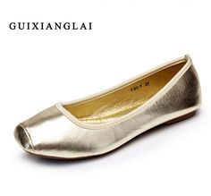 f3739e000 Online Shop 2016 Fashion Women's Casual Shoes Simply Style Women Flat Shoes  Woman Loafers Silver Gold Boat Shoes Ladies Causal Driving Shoes
