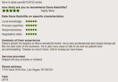 Dave Radcliffe Vegas » Another Satisfied Real Estate Customer in Las Vegas
