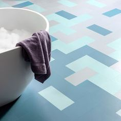 """These """"Little Bricks"""" are subway-like tiles by Harvey Maria that can be laid in different colors & patterns - great option when using a single sided adhesive underlayment. Harvey Maria, Floor Design, Color Patterns, Different Colors, Flooring, Bathroom, Bricks, Adhesive, Tiles"""