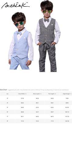 ActhInK New Boys Spring 2Pcs Formal Plaid Suit Kids Two Piece Waistcoat+Shorts Costume Boys Autumn Wedding Clothing Set, AC048
