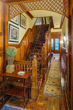 West 71st Street New York brownstone Foyer, It reminds me of my grandmother's home in Aberdeen, Scotland!