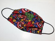 Comics Мarvel Washable Face Mask with Filter Pocket | Etsy You Are My Superhero, Custom Bucket Hats, Face Design, How To Apply Makeup, Fashion Face Mask, Creative Gifts, Cute Designs, New Trends