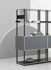 Modular Shelving, Shelving Systems, Bookshelves, Bookcase, Shelf System, Studio, Minimalist Design, Office Furniture, Cabinet