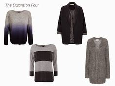 A Four by Four Wardrobe in Bright Blue, Ultra-Violet, Navy and Grey