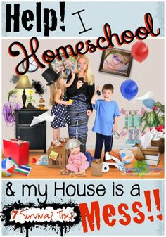 Help! I Homeschool, & My House is a Mess! by Kristi Clover of Raising Clovers - Some days I feel like I have to make a decision: Will we get everything done with our homeschool work today or will I actually get my house clean? There doesn't always seem to be a middle ground. It feels like it's one or the other. Balancing homeschooling and house work is very hard work, but I share some practical tips on how I try to stay on top of the mess! (& unbury us when needed) :)