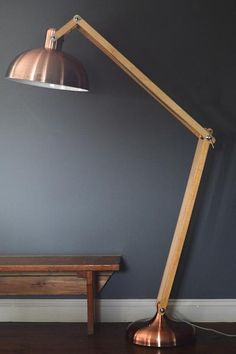 Copper & Wood Floor Lamp - The Forest & Co.