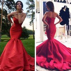 Elegant Long Prom/Evening Dress - Mermaid Satin Gown for Women,Fishtail prom dress,Sexy dress
