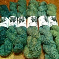 Handspun Wool Yarn, 2 ply, 3 ply, Natural Dye, Onion skin, Indigo, Corriedale, Merino, 650 yards by alexandraiosub on Etsy